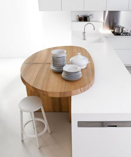 Thoughtful Minimalist White Kitchen For Small Spaces | DigsDigs .