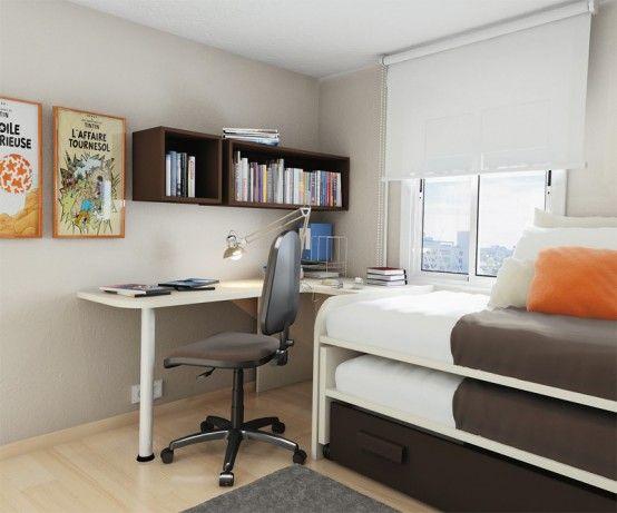 55 Thoughtful Teenage Bedroom Layouts | Diseño de habitación .