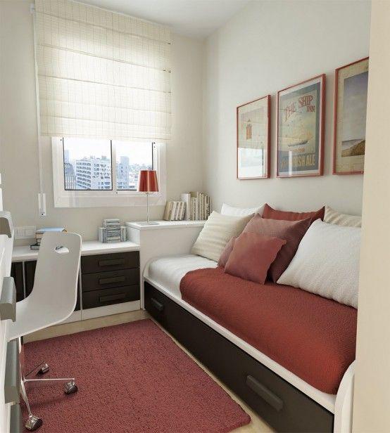 50 Thoughtful Teenage Bedroom Layouts | DigsDigs | Small bedroom .