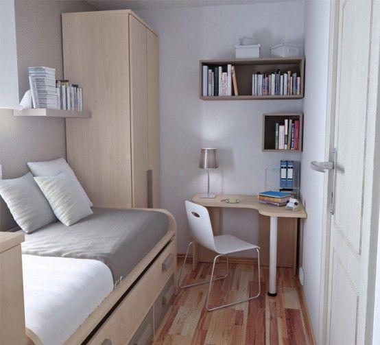 55 Thoughtful Teenage Bedroom Layouts | Decorar habitacion pequeña .