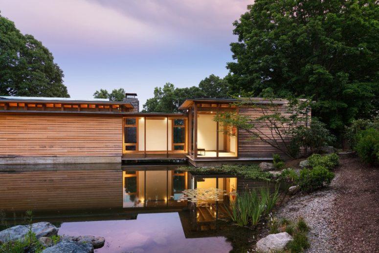 Three-Volume Residence Around A Large Pond - DigsDi