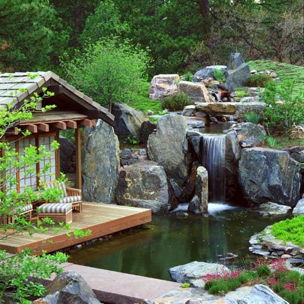 55 Visually striking pond design ideas for your backya