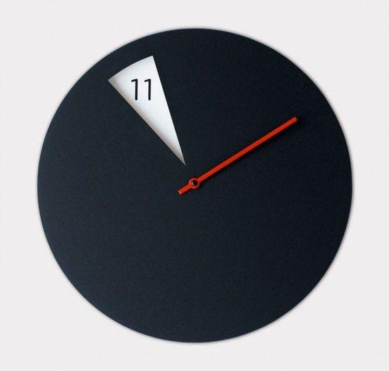 Time As Art: 26 Really Unique Modern Clocks | Minimalist clocks .