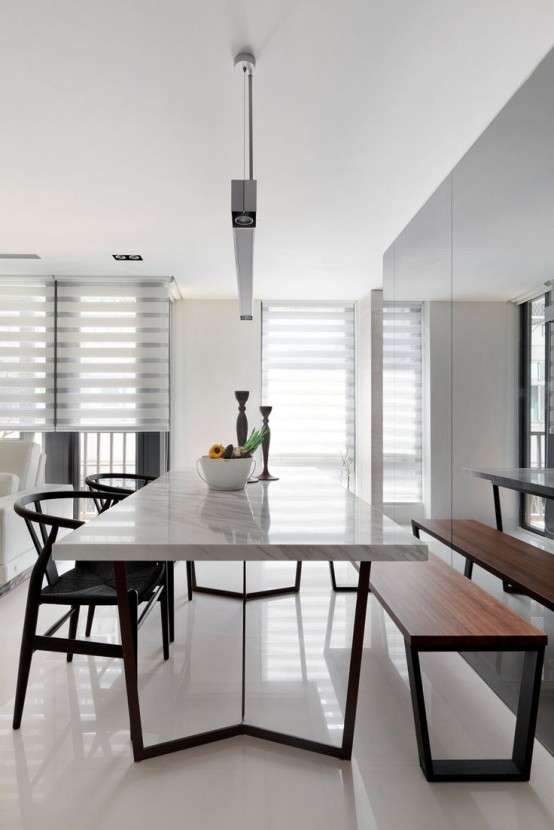 31 Timeless Minimalist Dining Rooms And Spaces - DigsDi