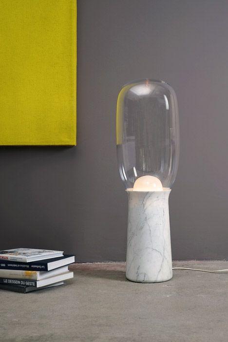 Torch lamp by Dan Yeffet   Torch light, Marble lamp, Lamp lig