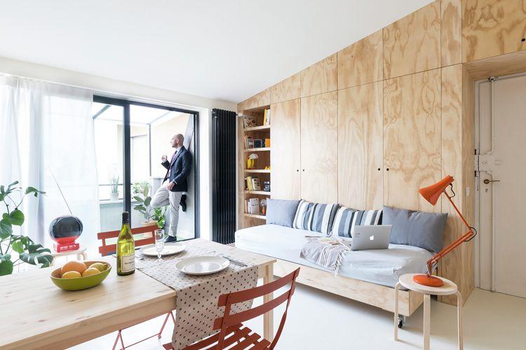 28 sqm Apartment in Milan refurbished by studioWOK | Small studio .