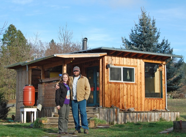 Couple Build DIY Reclaimed Off Grid Tiny Cabin for $