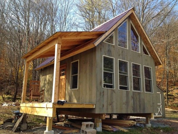 Adam and Karen's Tiny Off-Grid House | Tiny house talk, Off grid .