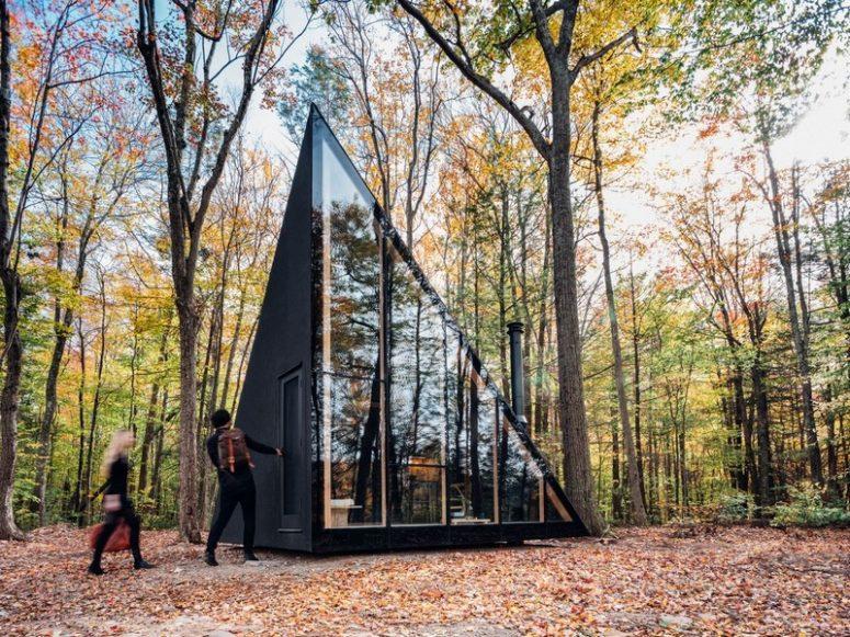 Tiny Woodland Cabin With A Crystal Shape - DigsDi