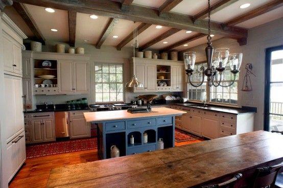 15 Easy Tips For Creating A Farmhouse Kitchen | Lake house kitchen .