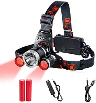 Headlamp Red Lighting LED Headlight 4 Modes, Hands-free Flashlight .