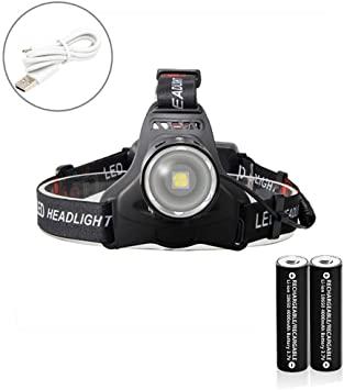 Amazon.com : NeeXiu Headlamp 8000 Lumens LED Head Torch Zooomable .