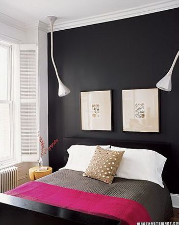 Black paint colors ideas for accent walls | Bedroom design, Home .
