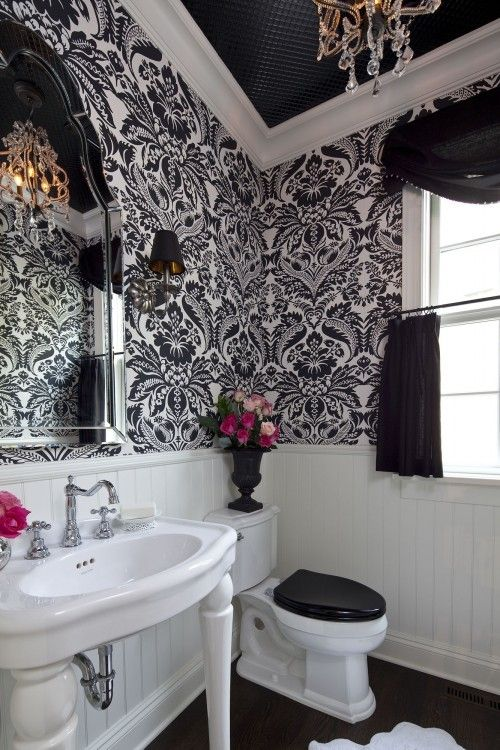 23 Traditional Black And White Bathrooms To Inspire | Black and .