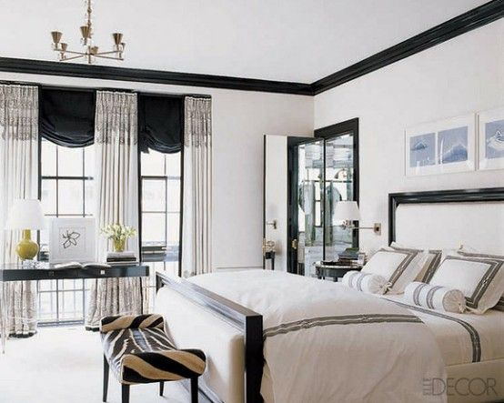 19 Traditional Black And White Bedroom That Inspire | White .