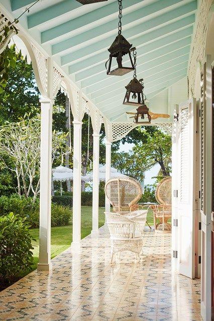 Veranda with vintage furniture in Garden Room Ideas. Veranda with .