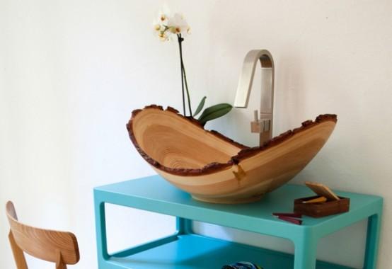 Trendy Larch Wood Ninna Washbasin - DigsDi