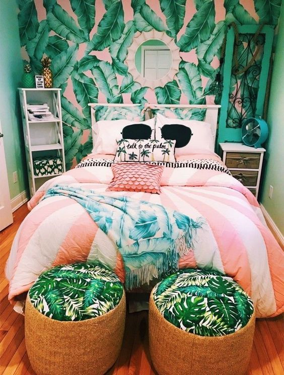 53 Bright Tropical Bedroom Designs - DigsDi