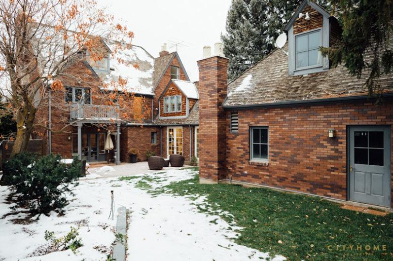 Tudor Outside And Colorful Modern Inside House - DigsDi