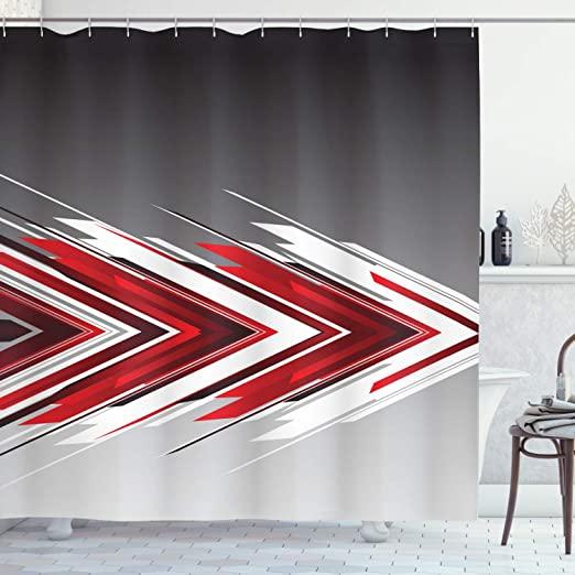 Amazon.com: Ambesonne Arrow Shower Curtain, Futuristic Modern .