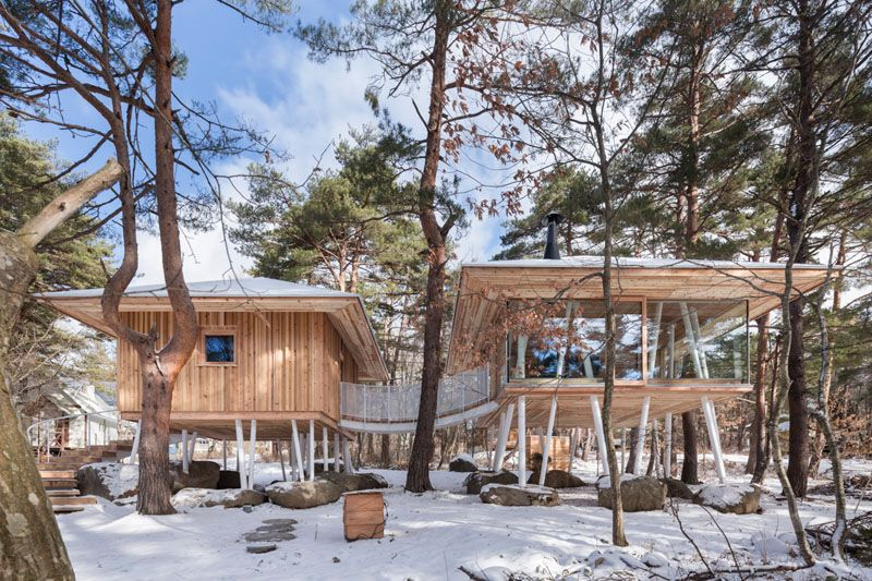 This Japanese Vacation Home Is Raised Up On Stilts To Avoid The .