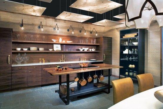 Ultimate Dark Interior Inspiration | Interior design kitchen .
