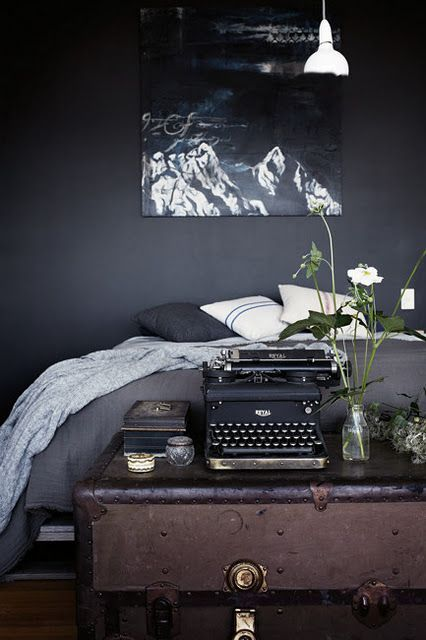 Deep and Dark (With images) | Dark wall, Bedroom black, Home bedro