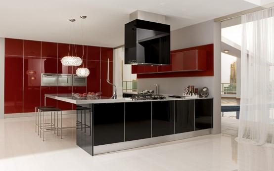 glossy kitchen cabinets Archives - DigsDi