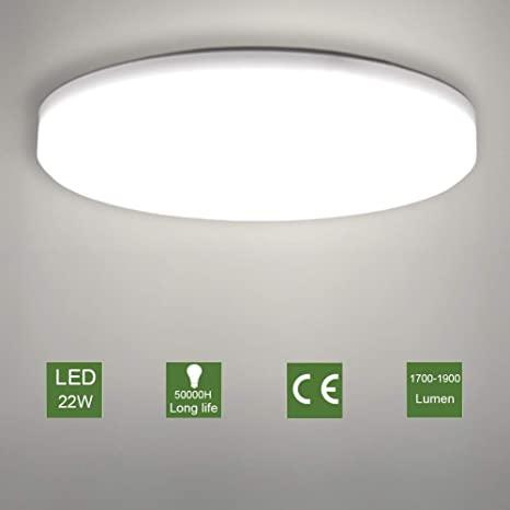 LED Ceiling Light, OOWOLF Modern 22W Led Ceiling Lamp Fixture .
