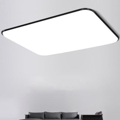 Black Ultra Thin Rectangle Flushmount Modernism Acrylic LED .