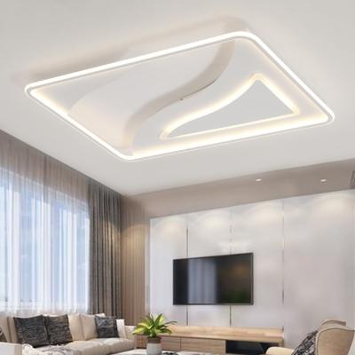 White Ultra Thin Ceiling Lamp Contemporary Acrylic LED Flush .