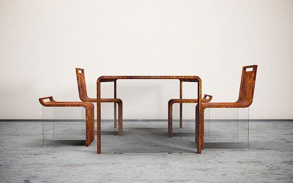 Ukraine based designer, Max Ptk, has imagined a dining room .