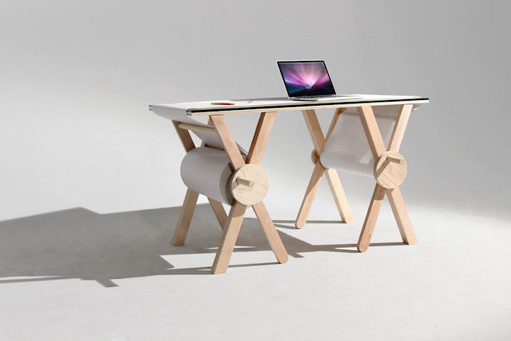 This Desk Features 1,100 Yards of Scrolling Paper to Record Your .