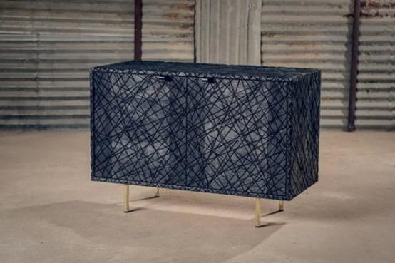 Unique Black Scars Cabinet From Oxidized Oak - DigsDi