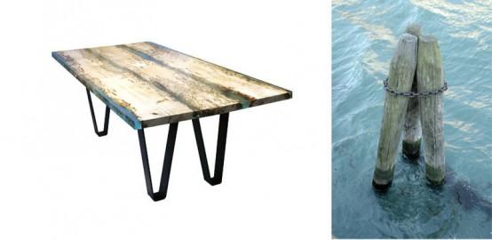Unique Chimenti Table Inspired By Venice - DigsDi