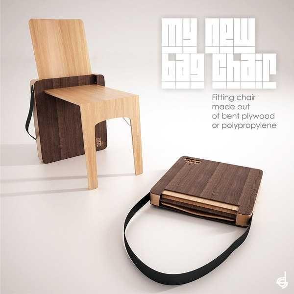 Portable Folding Chair Design, Bag Chair by Stevan Djurovic .