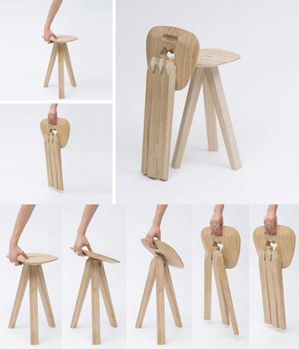 Unique and Simple Folding Wood Chair - Furniture Home Id