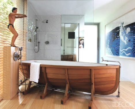 Bathtub Ideas -Boat Bathtubs, Tubs with Stencils, Painted and more .