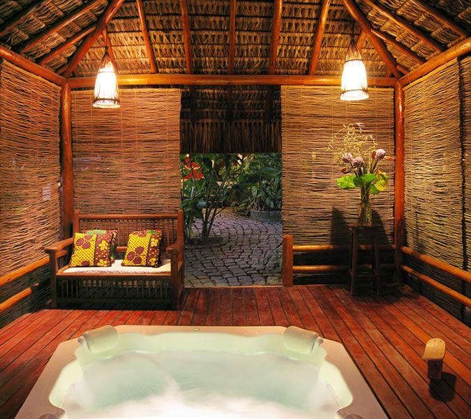 jacuzzi   Jacuzzi hot tub, Unique house design, Backyard livi