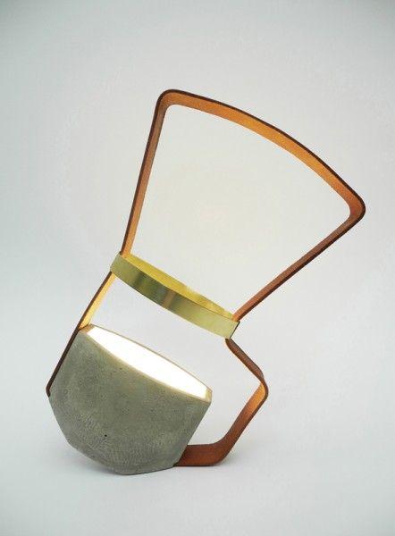 Os abajures de Katharina Eiesnkoeck | Concrete decor, Lamp design .