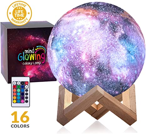 3D Galaxy Moon Lamp by Mind-glowing - Cool Kids Galaxy Moon Night .