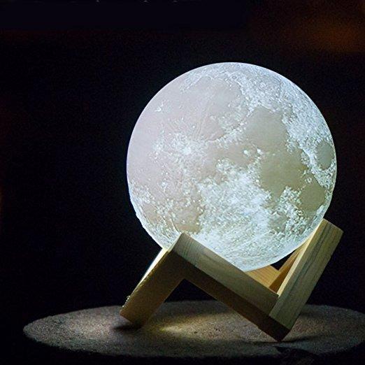 3D Moon Lamp LED Light Home Decoration, Unique Design For Bedroom .