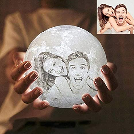 Amazon.com: Petforu Image Text Customization 3D Printed Moon Light .