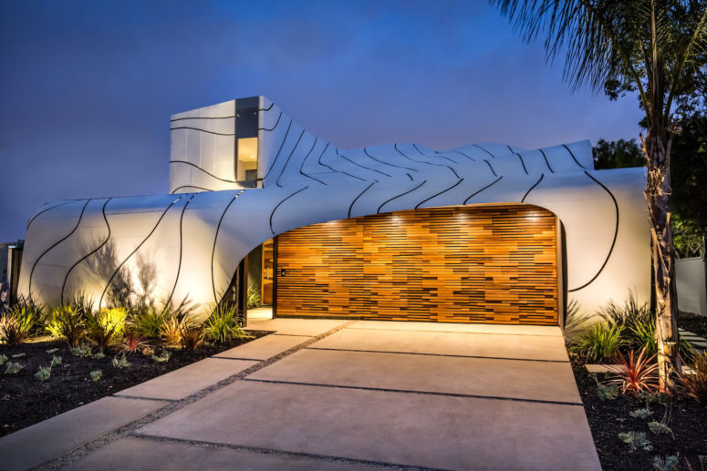 Unique Wave House Inspired By The Ocean Itself - DigsDi