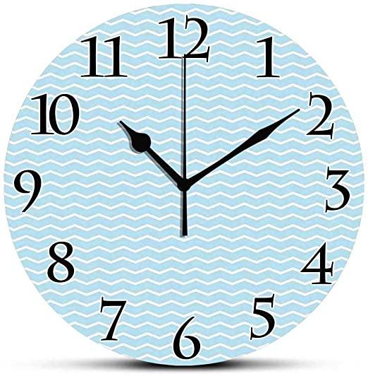 Amazon.com: BCWAYGOD Silent Wall Clock,Mint Green,Minimalist House .