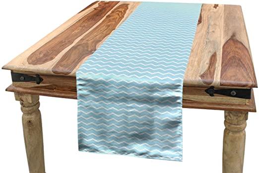 Amazon.com: Lunarable Mint Green Table Runner, Minimalist House .