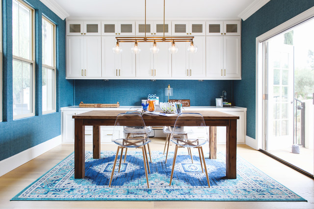 Ocean inspired office makeover - Beach Style - Home Office - San .