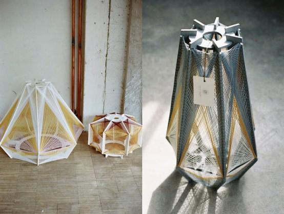 Unique Sputnik Lamps Of Wood And Cotton - DigsDi