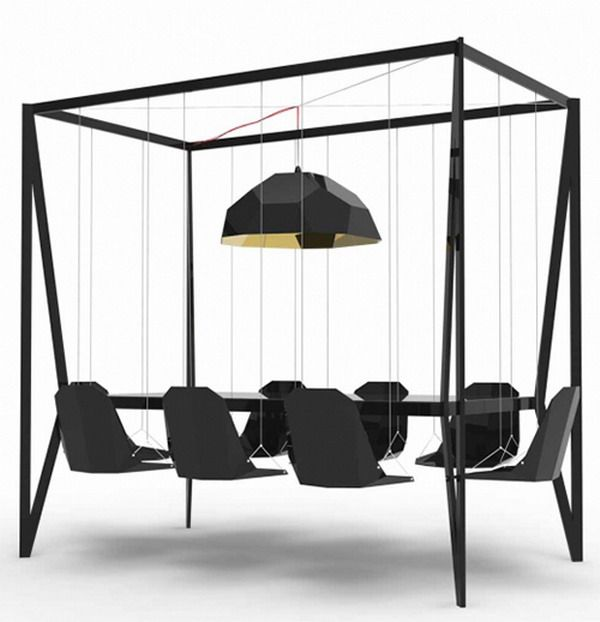 Black Hanging Dining Chair Modern Unique Furniture Ideas   Swing .