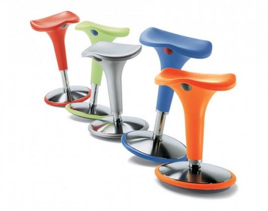 Swinging Stool Adjustable Height Contemporary Design, Zanzi Swing .